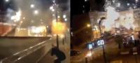Encapuchados usan fuegos artificiales a modo de 'morteros' y atacan comisaría