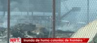 Incendio en el relleno sanitario; inunda de humo colonias de Frontera.