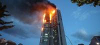 Arde edificio en Corea del Sur; evacuan a 136 familias por voraz incendio