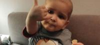 Venció la leucemia y el COVID-19; Miqueas Lionel el pequeño guerrero de dos años