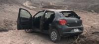 Monclovense terminó dentro del Río Monclova; casi pierde la vida en accidente