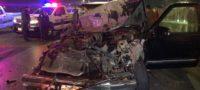Conductor queda prensado tras accidente
