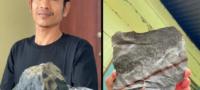 Joven se hace rico con pequeño meteorito