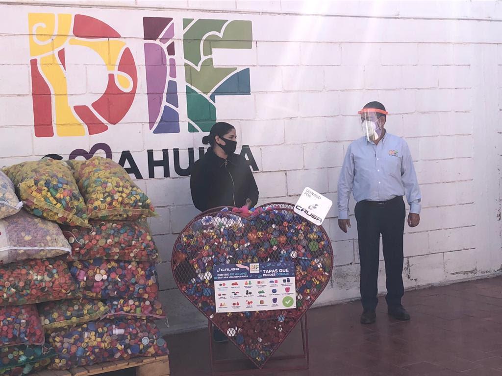 DIF Coahuila continua en campaña de recolección de taparroscas para salvar vidas