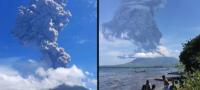 Enorme erupción volcánica en Indonesia obliga a las autoridades a evacuar más de 2 mil personas