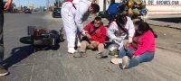 Policiaca: Derrapa motociclista tras atravesársele un tráiler