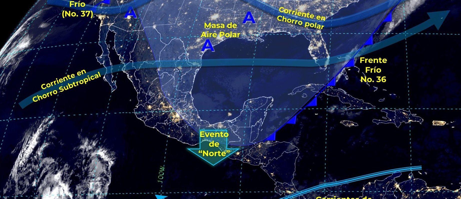 Frente frío dejará heladas y tormentas en Coahuila, Chihuahua y Sonora