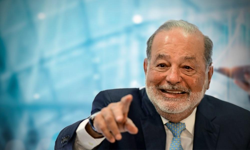 Presume Carlos Slim que en 2020 le fue mejor de lo que suponía