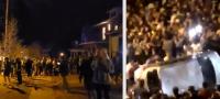No aprenden; Universitarios realizan fiesta masiva que termina en enfrentamientos con policías en plena pandemia