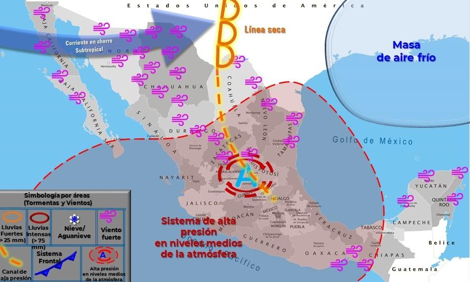 Clima en Monclova hoy 9 de marzo: ambiente helado, lluvias y posibles tolvaneras