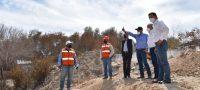 Recorren obra de drenaje pluvial en Frontera
