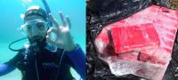 Buzo encuentra bulto con varios kilos de cocaína flotando en una playa en los Cayos de la Florida