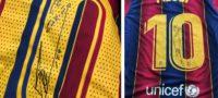 Messi regaló camisetas firmadas del Barcelona a Sinovac por donar vacunas a Conmebol