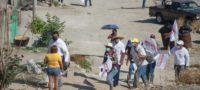 Habitantes de la Borja demuestran su apoyo a Roberto Piña