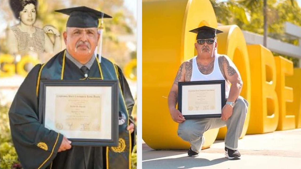 Abuelito cumple condena en prisión y vuelve a estudiar; se gradúa a los 62 años