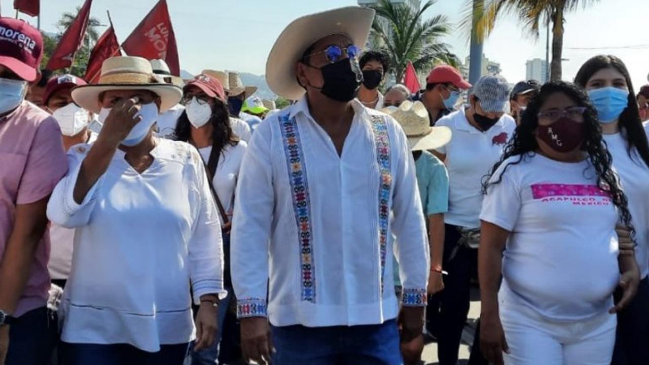 Marcha en Acapulco Félix Salgado tras pérdida de registro como candidato