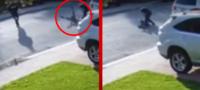 Hombre arroja y castiga a golpes a niño ladrón tras fallido intento de robo a mano armada