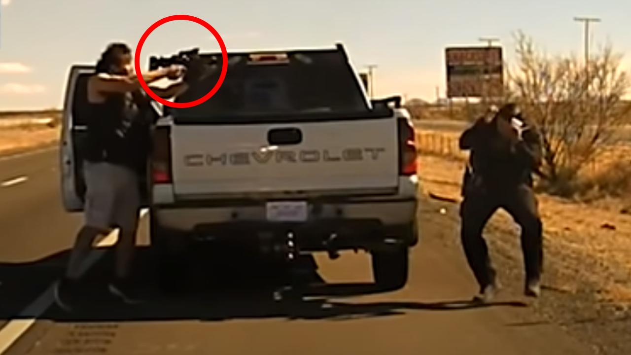 Conductor asesina a tiros a policía y la cámara de la patrulla lo graba todo