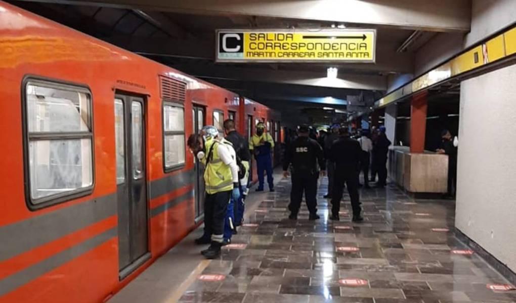Policiaca: Hombre intenta acabar con su vida; quería lanzarse a las vías del metro