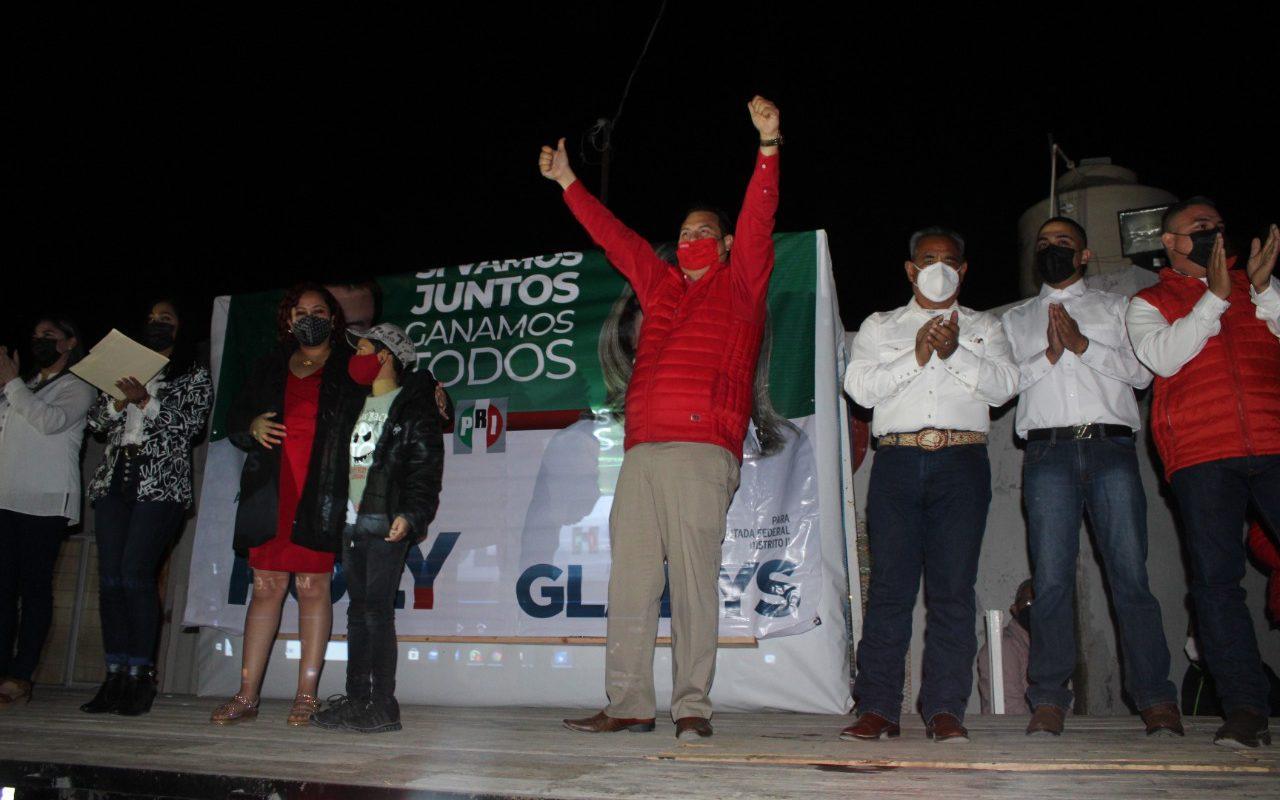 Rolando González Puente candidato del PRI y PRD arrancó campaña rumbo a la alcaldía de Castaños