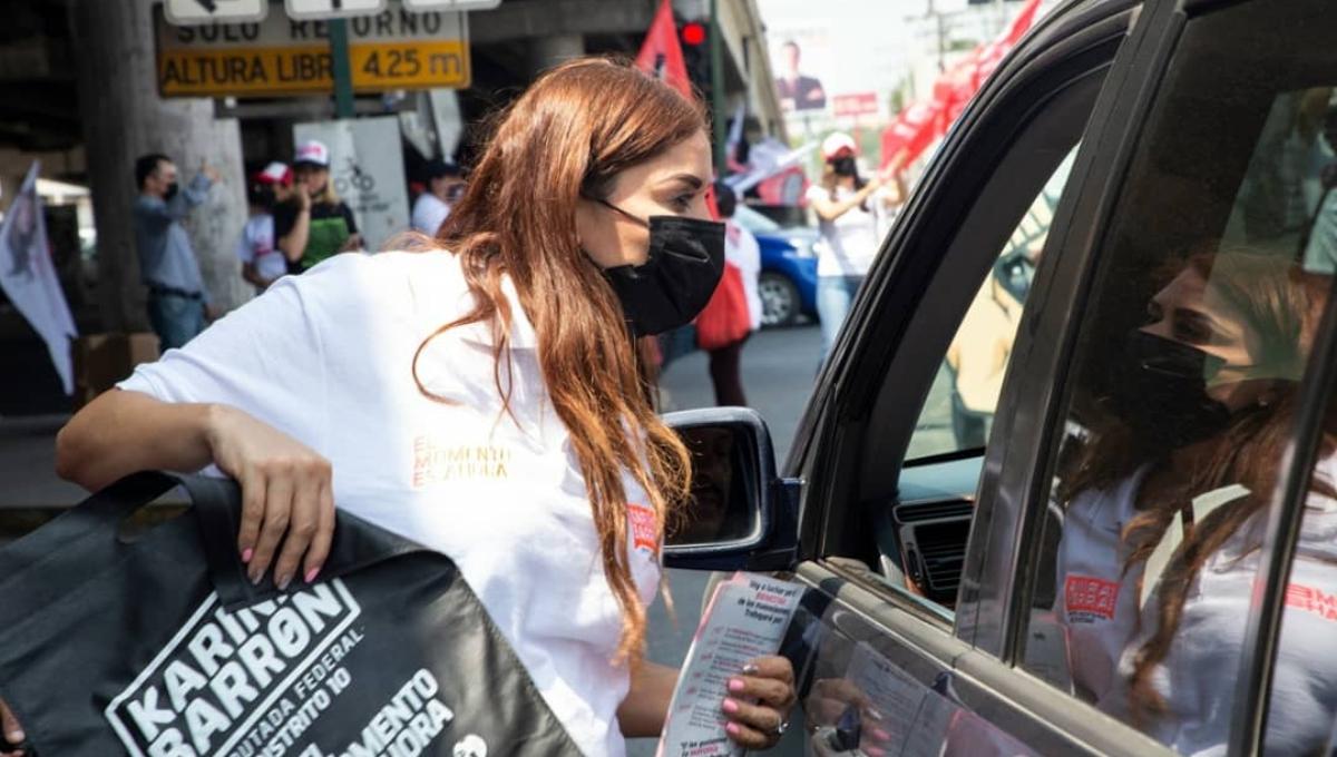 En pleno acto de campaña, candidata del PRI en NL entra en labor de parto