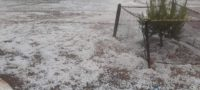 Tormenta y granizada sorprenden en Ramos Arizpe esta mañana