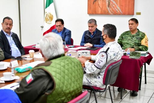 Preside MARS mesa de seguridad para coordinación de protocolos del proceso electoral en Coahuila