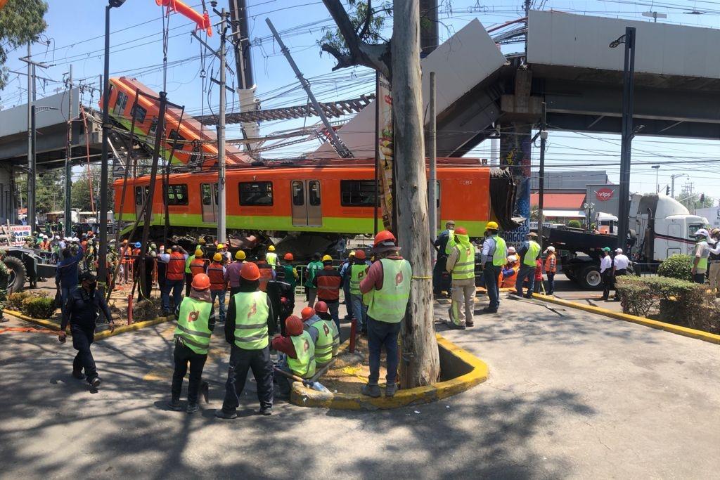 CDMX: Reportan a 5 personas desaparecidas tras desplome en la Línea 12 del Metro