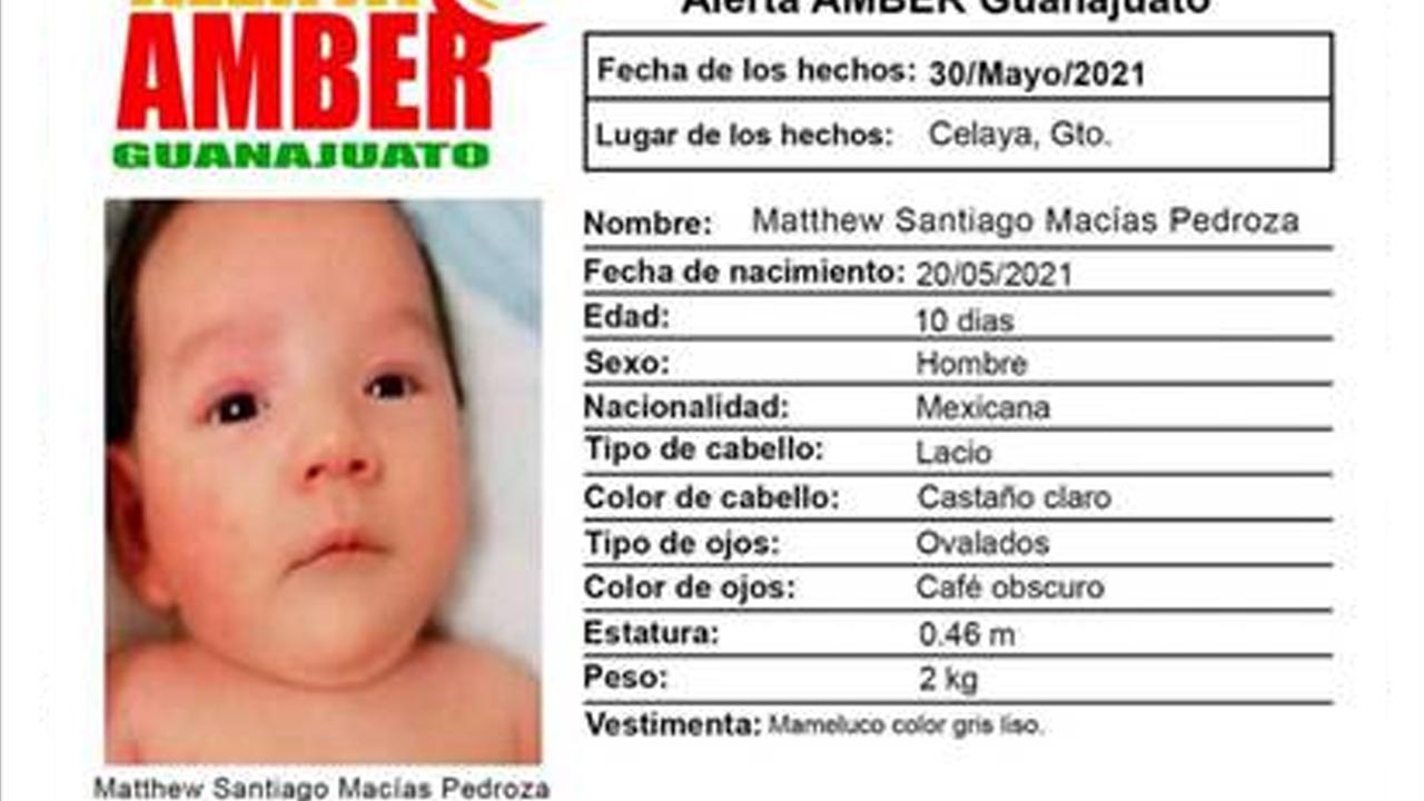 Matthew tiene apenas 10 días de nacido y fue separado de su madre por un secuestrador