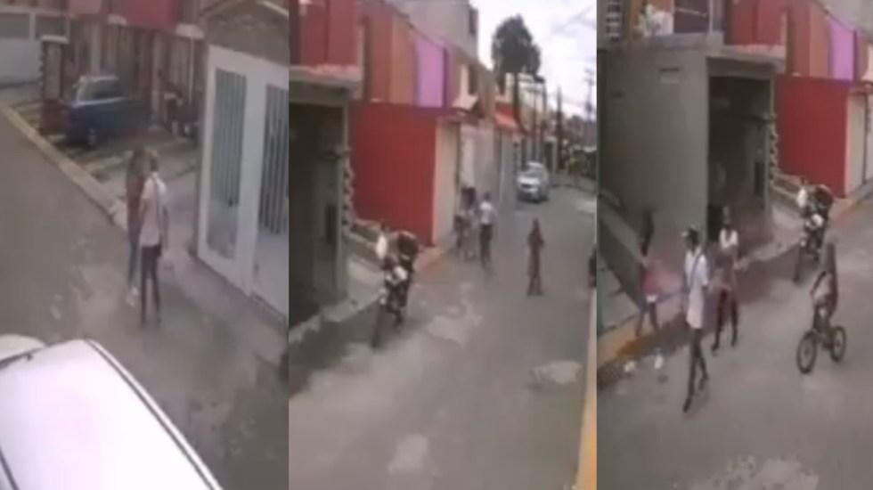Policiaca: En plena vía pública, sujeto golpea y arrastra a una mujer