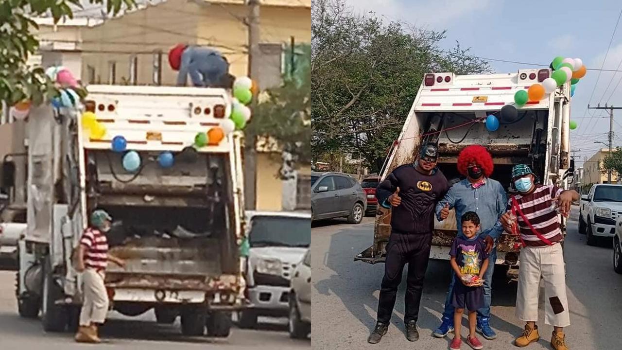 Trabajadores de limpieza repartieron alegría con música y disfraces durante el Día del Niño