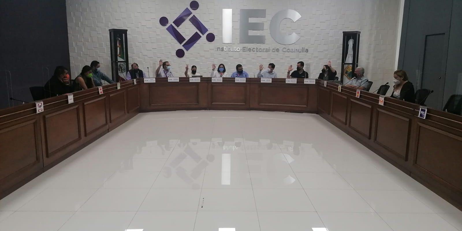Consejo General del Instituto Electoral de Coahuila aprobó acuerdo