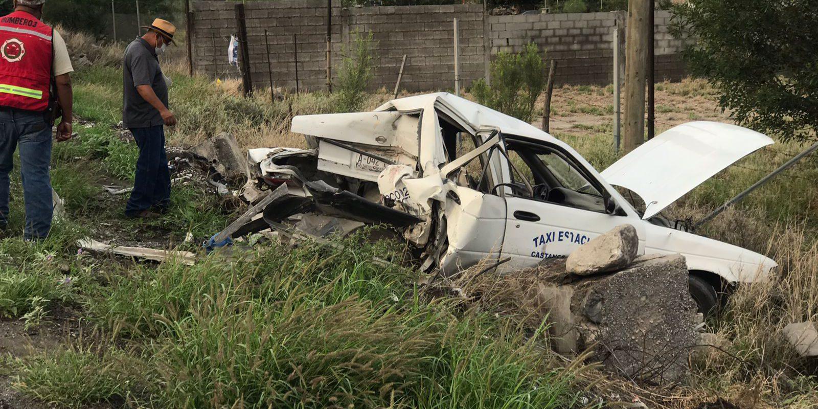 Policiaca: Arremanga Ford Explorer por detrás a taxi y deja mal herido al conductor, en bulevar Santa Cecilia de Castaños