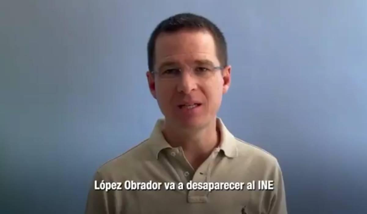 Si MORENA obtiene la mayoría, AMLO va a desaparecer el INE; Anaya pide no votar por ellos