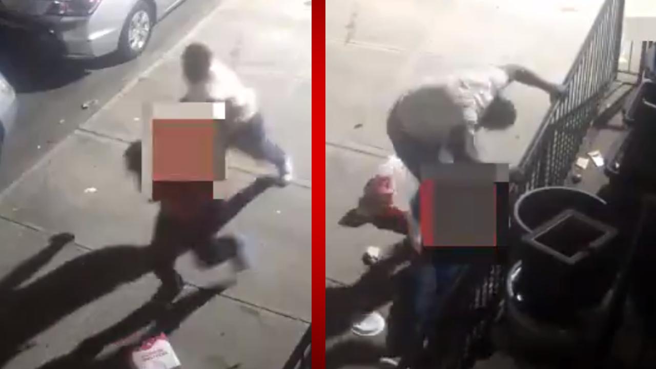 Graban brutal agresión contra un hombre en Brooklyn