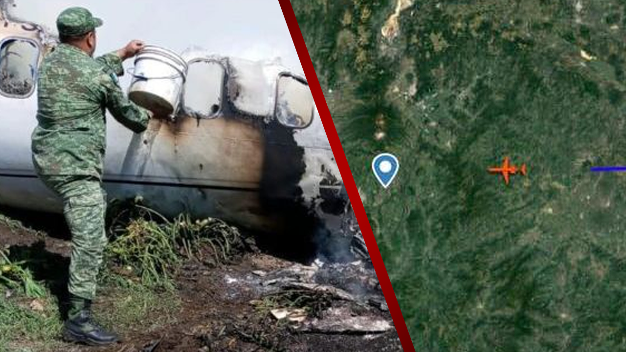 Avión de carga sufre aparatosa accidente; tres personas perdieron la vida tras su desplome en Michoacán