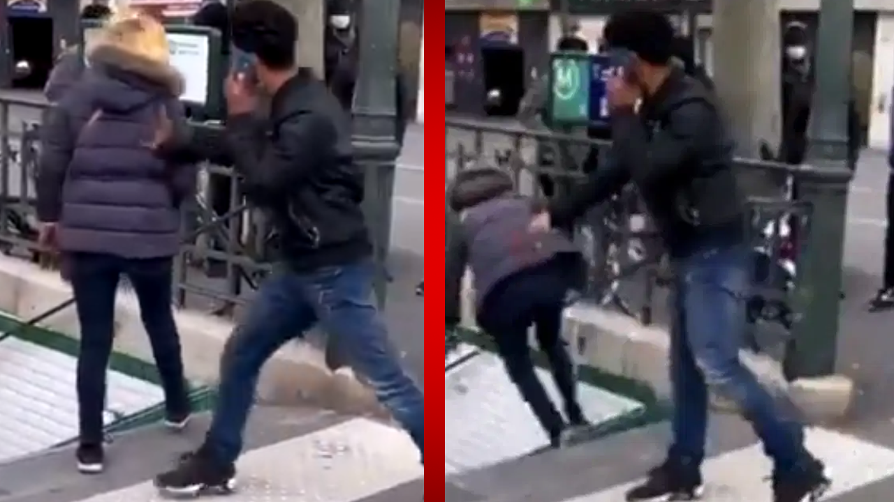 Hombre empuja a una mujer por las escaleras del metro en Francia; como castigo lo deportaron del país