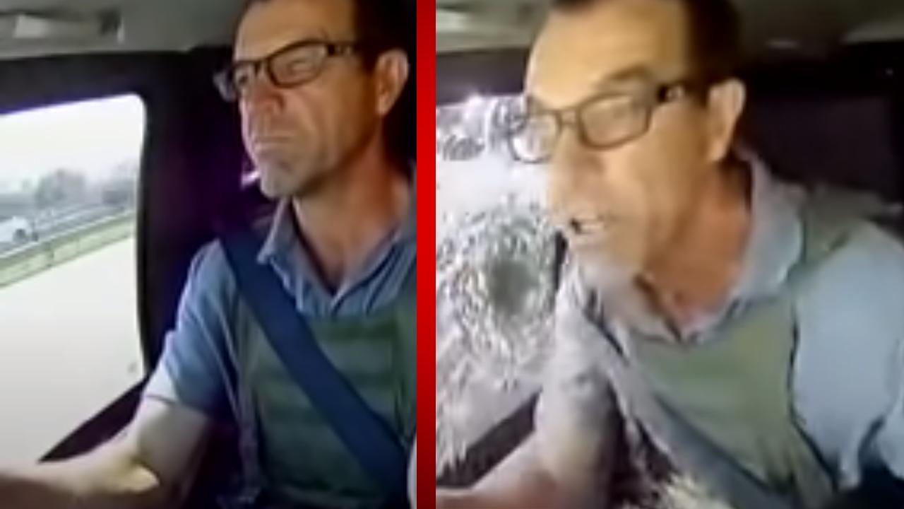 Conductor de camión de valores evita que el vehículo ser robado mostrando su destreza al volante