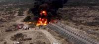 Explotan contenedores ferroviarios por huachicoleo en Saltillo