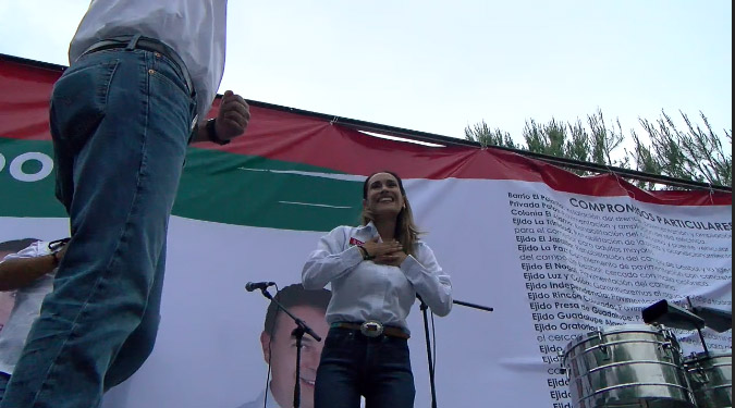 Cierra campaña Mayra Ramos