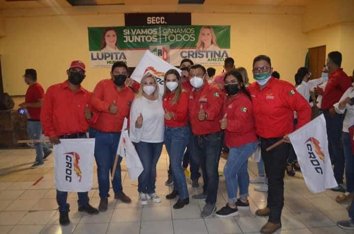 Cristina Amezcua gana el Distrito III de Coahuila; CROC reitera su apoyo y felicitaciones