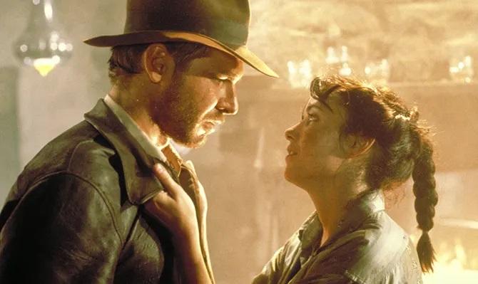 Harrison Ford y Karen Allen en Indiana Jones