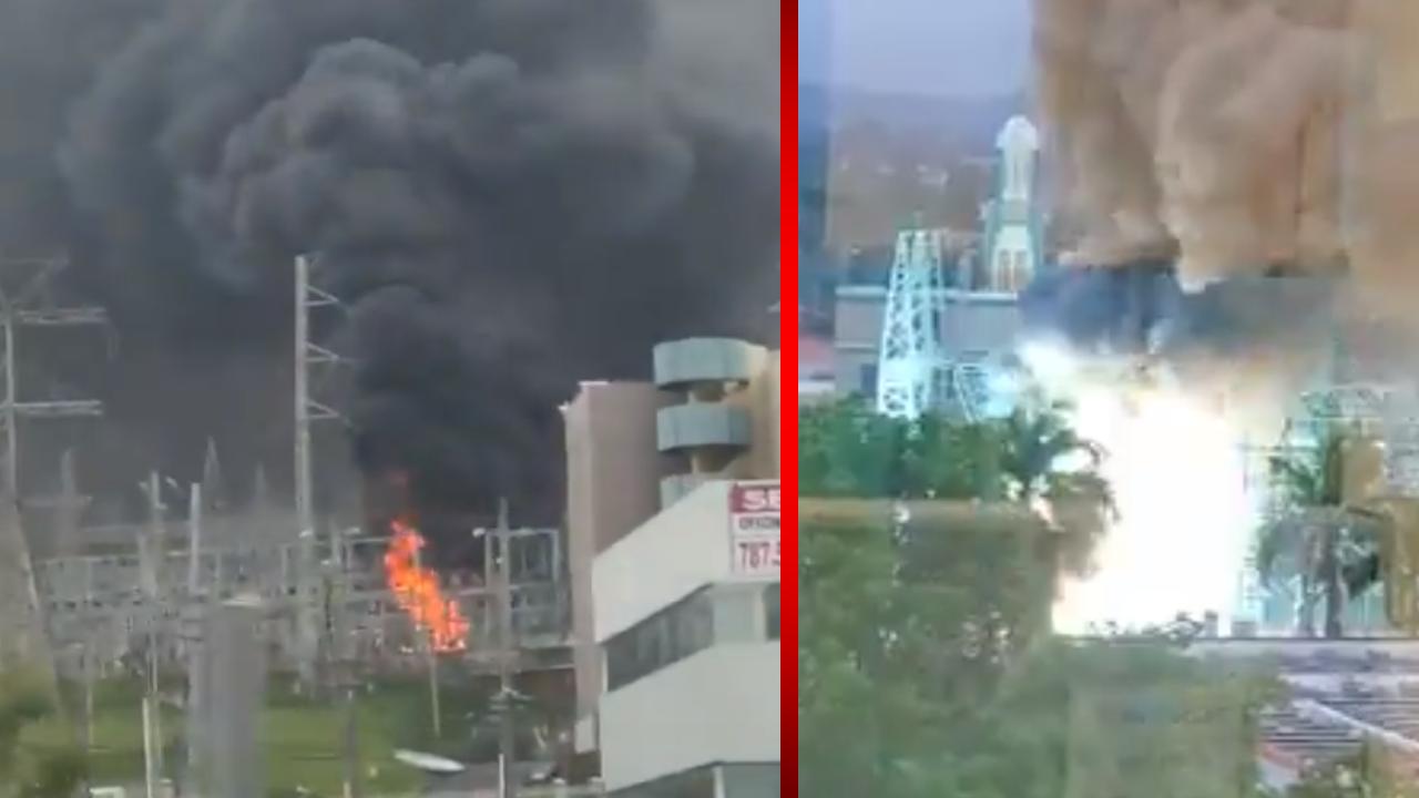 Se registra apagón masivo en Puerto Rico tras incendio en una subestación eléctrica