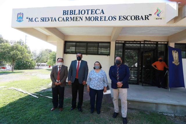 Rinden homenaje a la Mtra. Silvia Carmen Morelos Escobar y nombran Biblioteca en su honor en la Facultad de Ciencias Físico Matemáticas UAdeC
