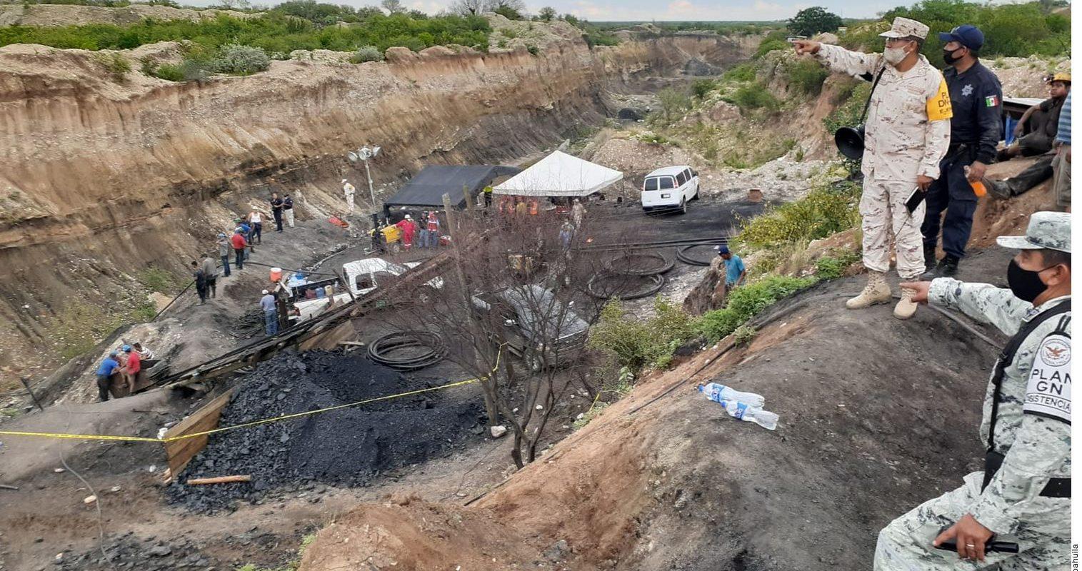 Gobierno de Coahuila apoya en todo lo requerido a rescatistas y a familias a partir del accidente sucedido en la mina de Micarán