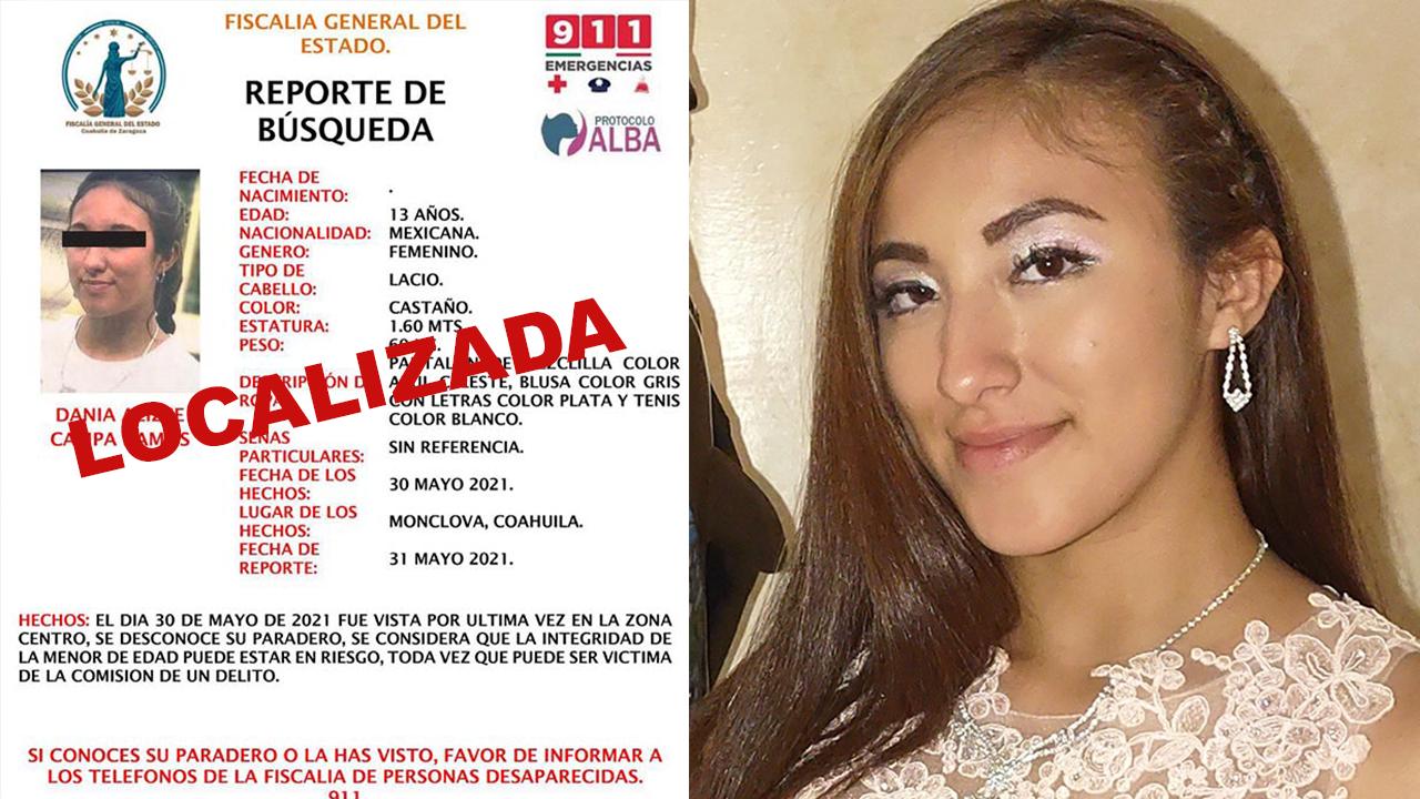 Dania está bien; confirman está internada tras ser localizada en el centro de Monclova
