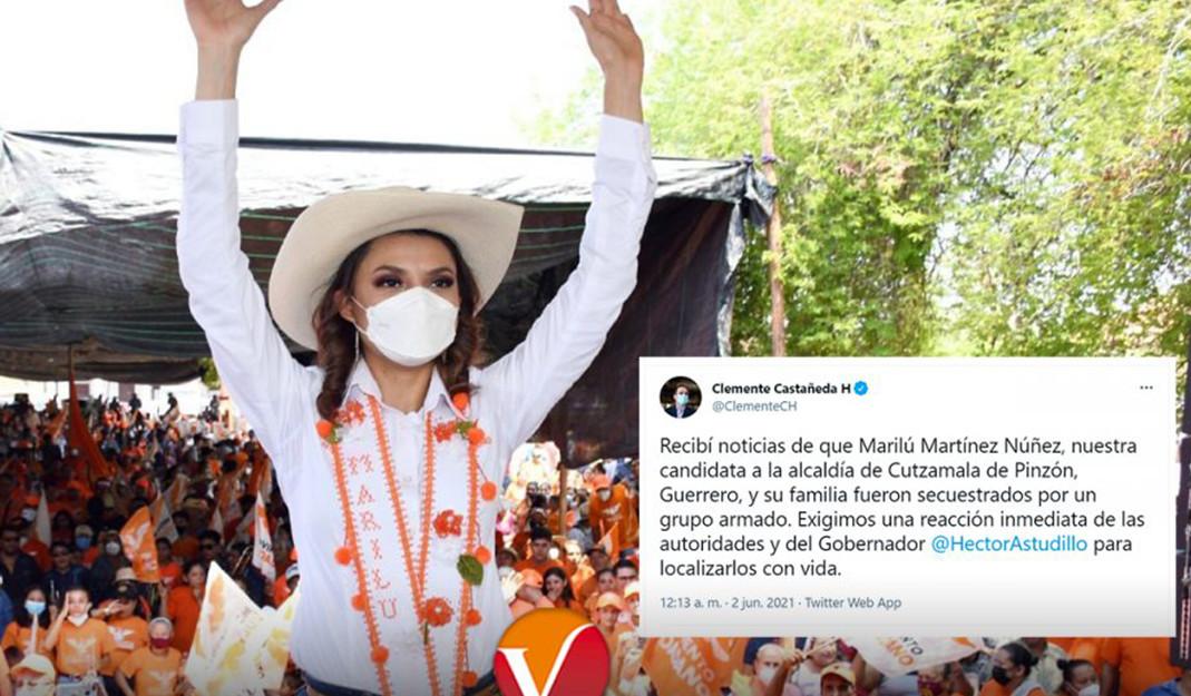 Secuestran a candidata de MC y a su familia en Guerrero; exigen justicia