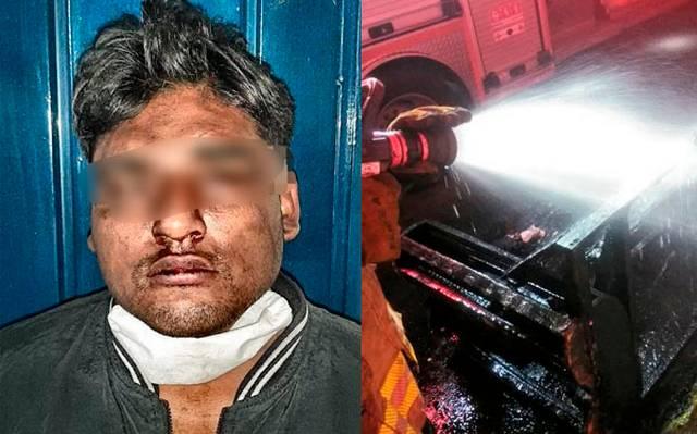 Policiaca: Tóxico incendia la casa donde vive su ex; quedó atrapado en el fuego