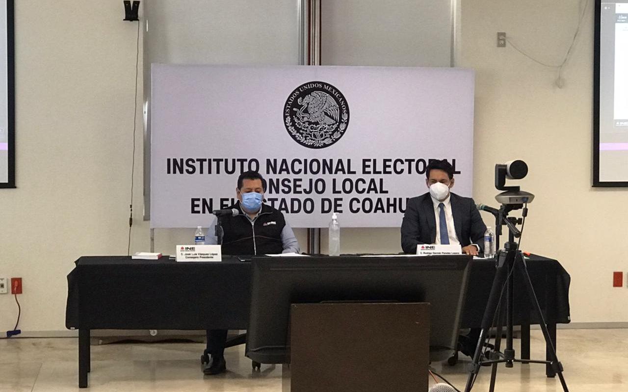 Sesiona INE en Coahuila seguimiento de la jornada electoral 2021