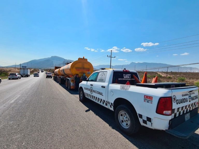 Decomisa Guardia Nacional gasolina en Ramos Arizpe